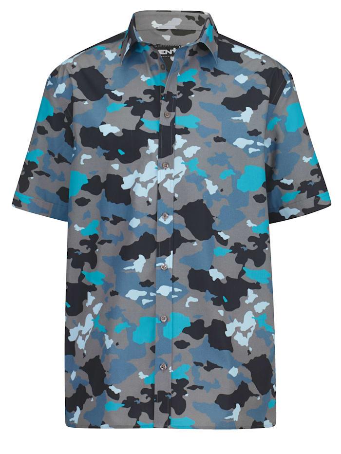Men Plus Skjorta av 100% bomull, Blå/Ljusblå