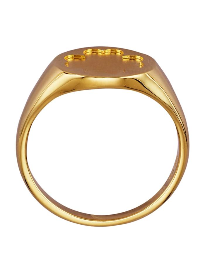Bague Trèfle en or jaune 585