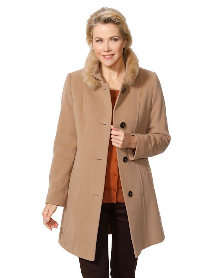 Manteau court en laine mélangée en cachemire mélangé