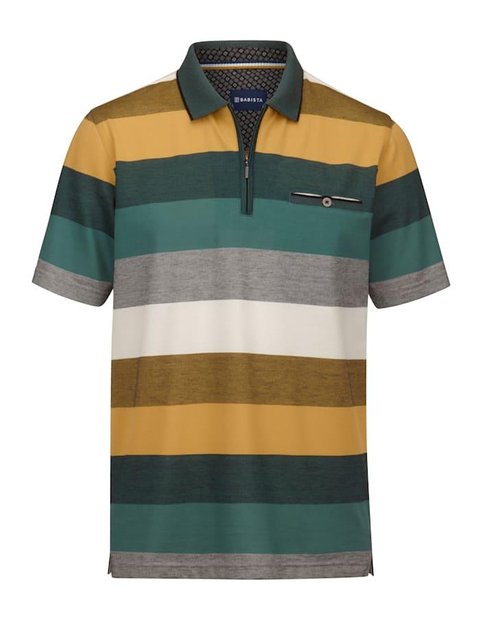 BABISTA Poloshirt mit veredelter Baumwolle, Grün/Gelb