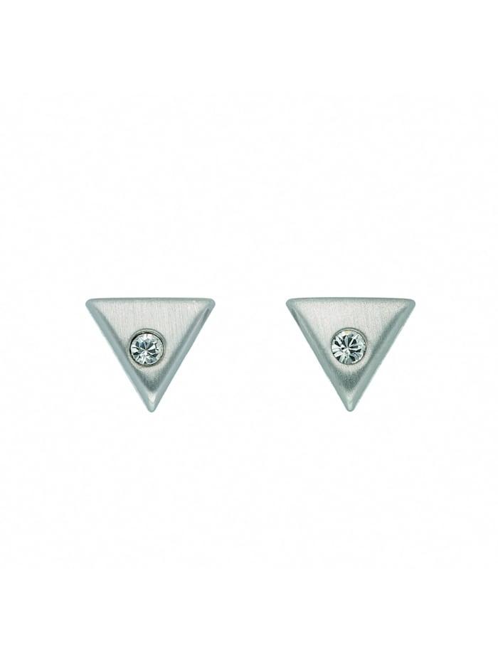 1001 Diamonds Damen Silberschmuck 925 Silber Ohrringe / Ohrstecker mit Glasstein, bunt/multi