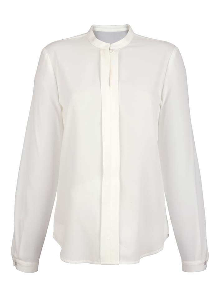AMY VERMONT Bluse mit Blende, Off-white