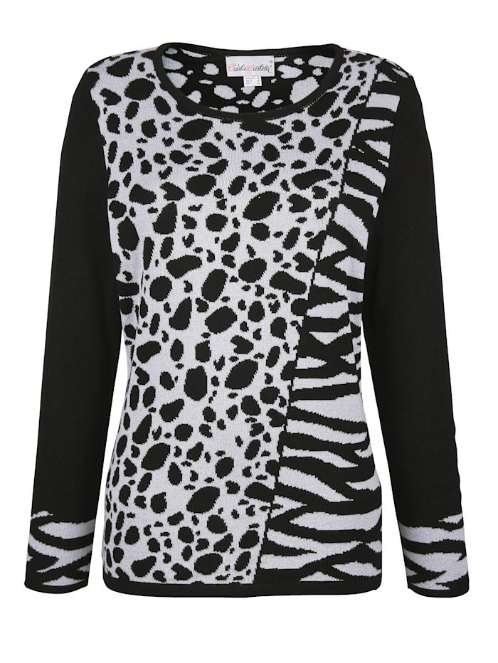 Pullover mit Animal Jacquard