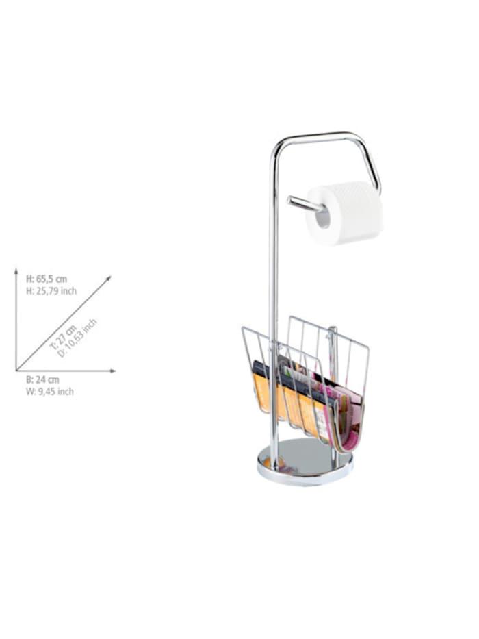 Stand WC-Garnitur mit Zeitungshalter Chrom