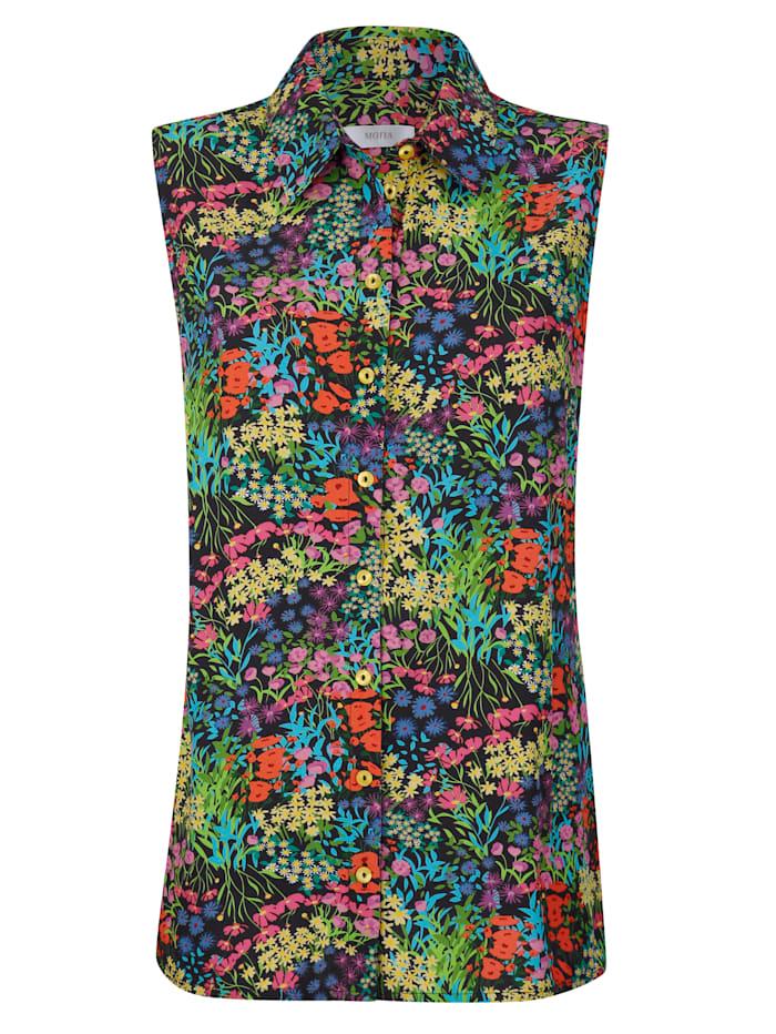 Bluse mit farbharmonischem floralen Druck