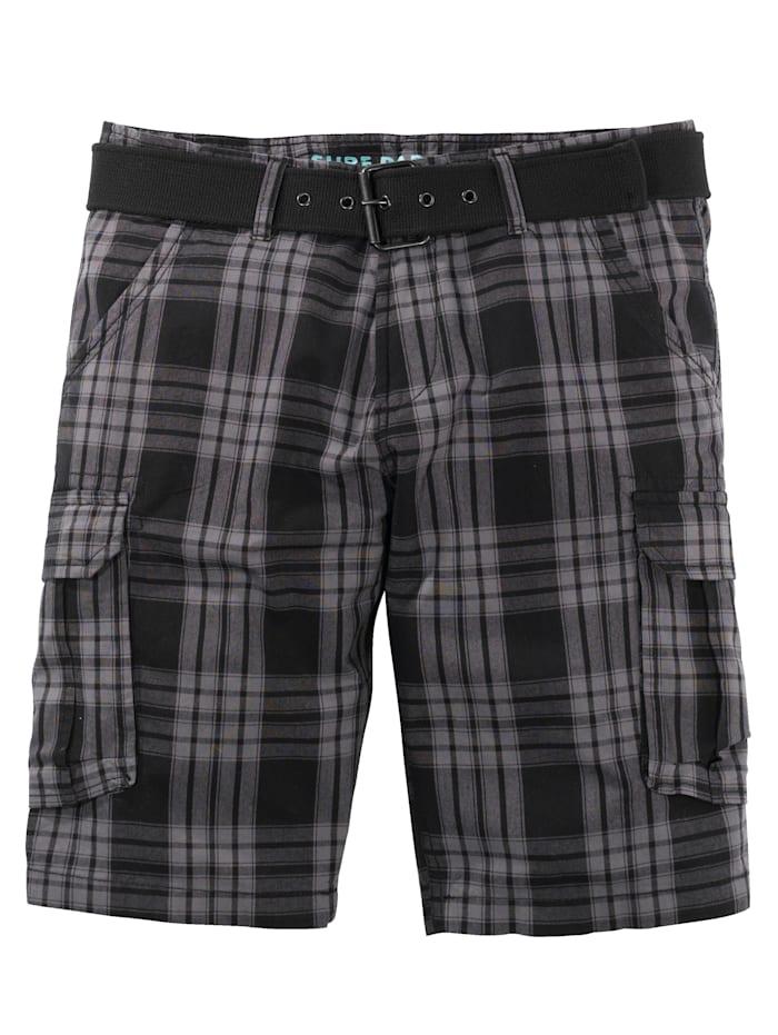 Men Plus Shorts i regular fit, Svart/Grå