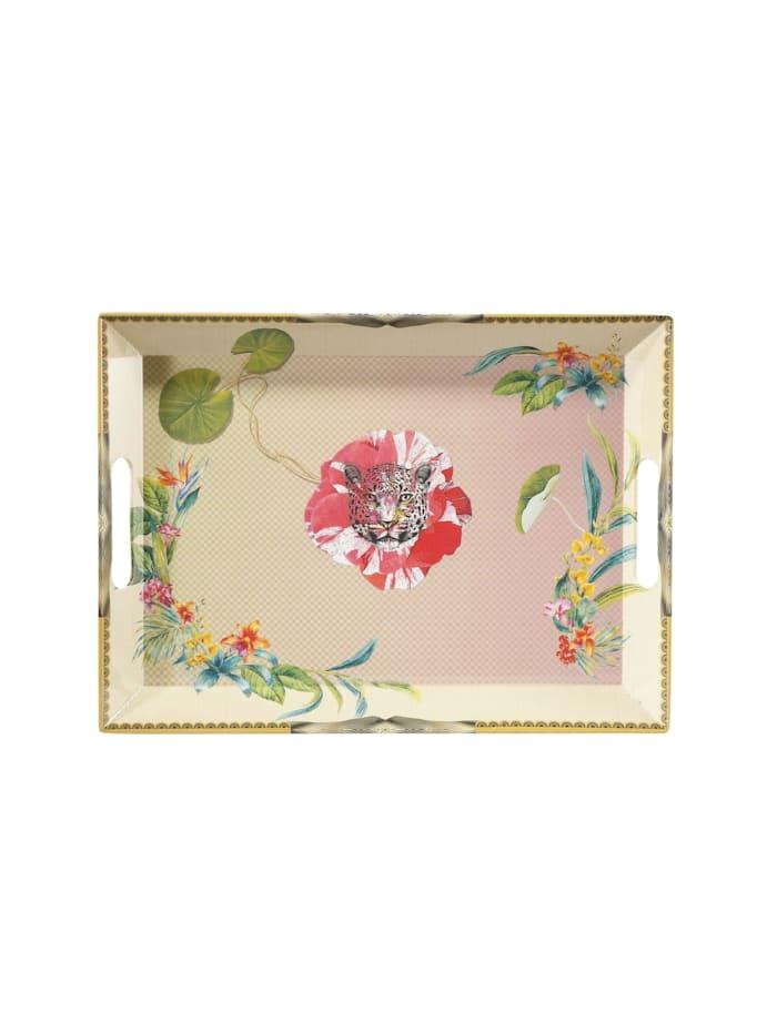 "Goebel Goebel Tablett Elephant - ""Leopard Pink"", Bunt"