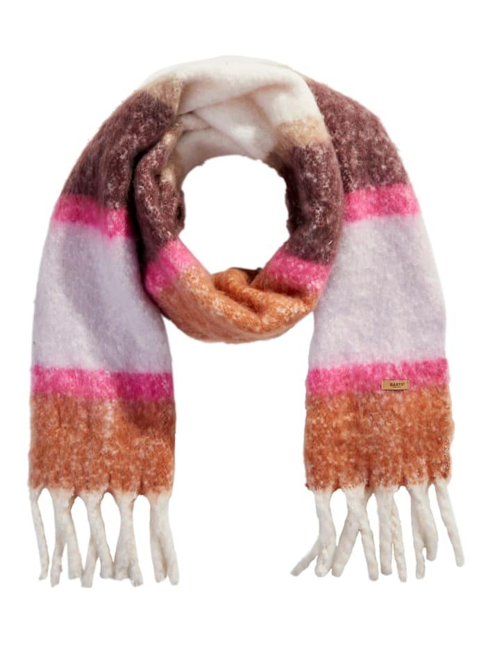 Barts Schal, Terracotta/Rosé/Brombeere