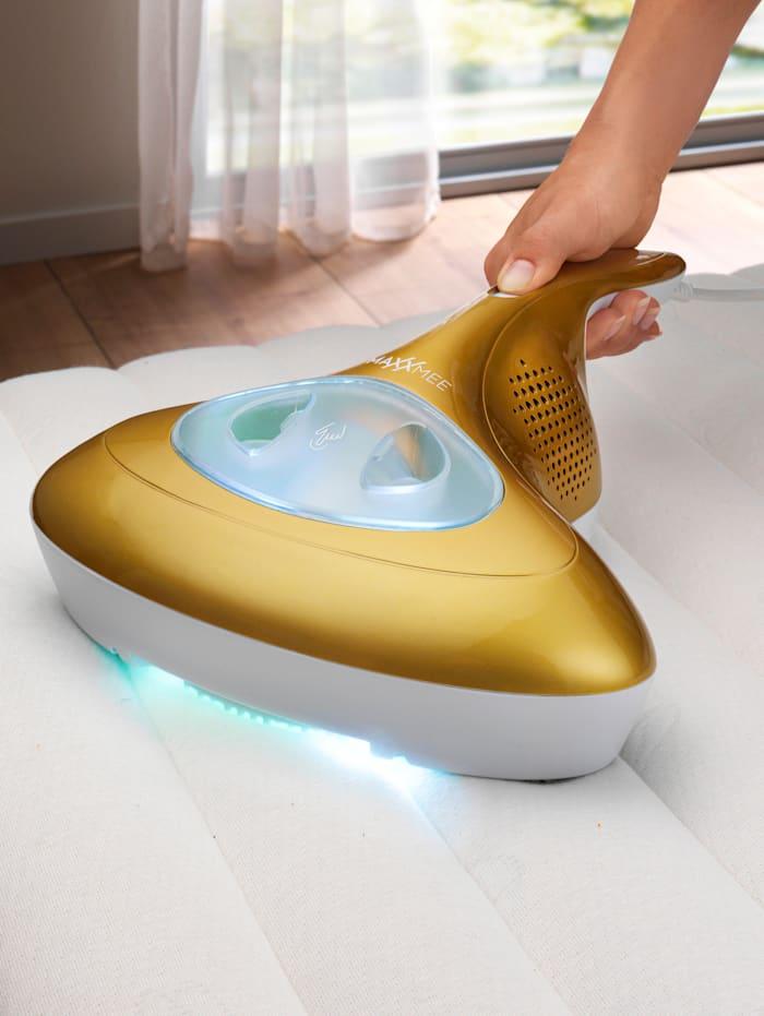MAXXMEE Antimilben-Handstaubsauger mit UV-C-Licht, goldfarben/weiß