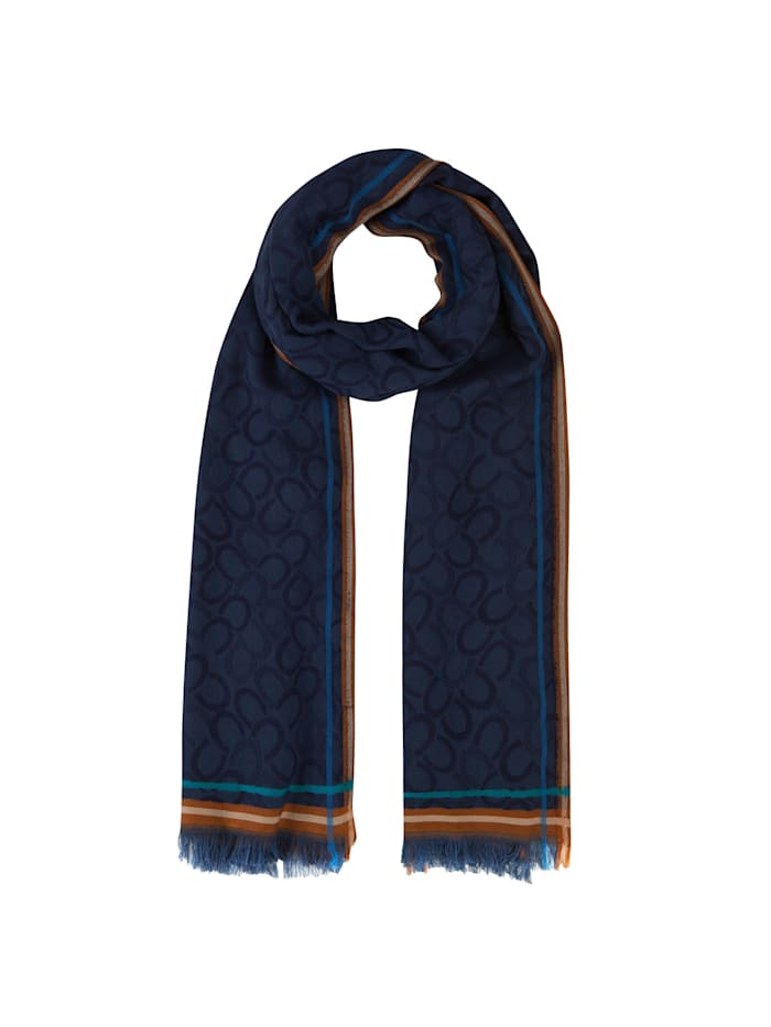 Codello Logo-Schal aus edler Viskose, dark blue