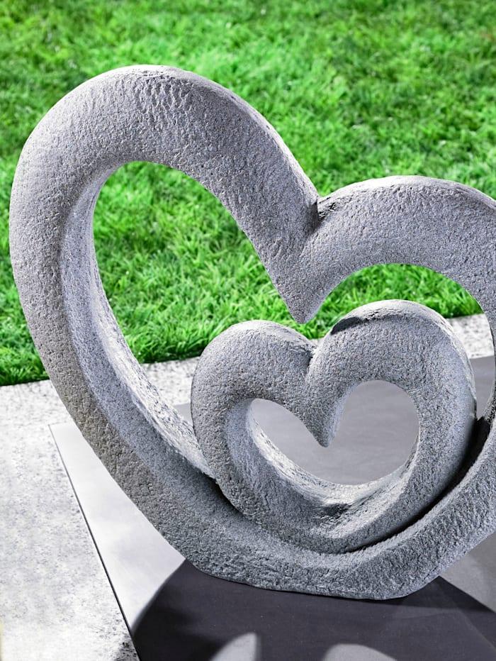 TRI Skulptur 'Herzen', Grau