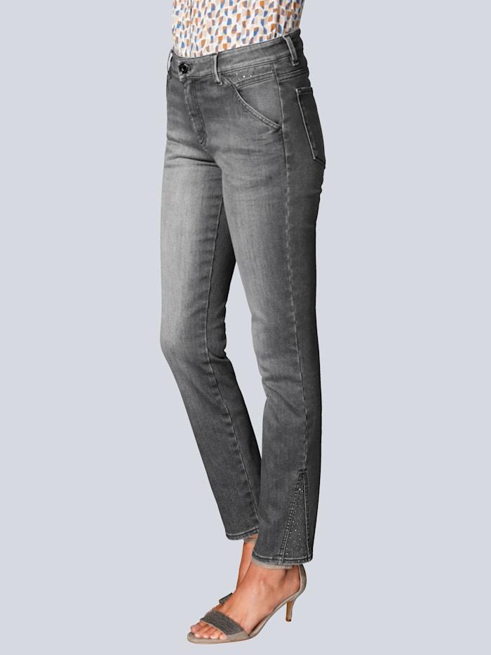 BRAX Jeans mit Hotfixsteinchen, Grau