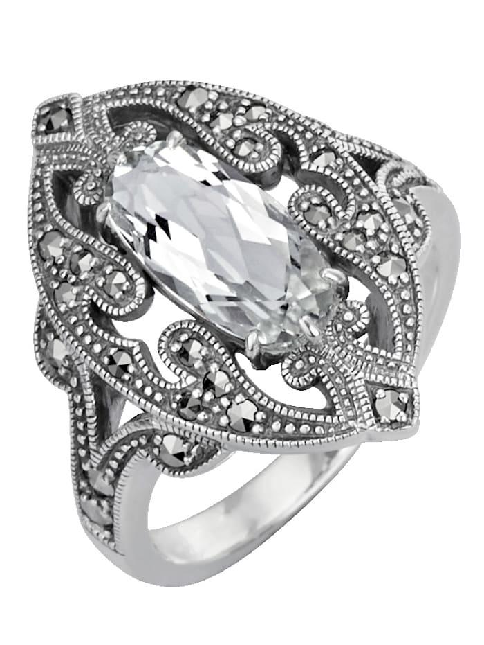 Esse Ring med kvarts, Silverfärgad