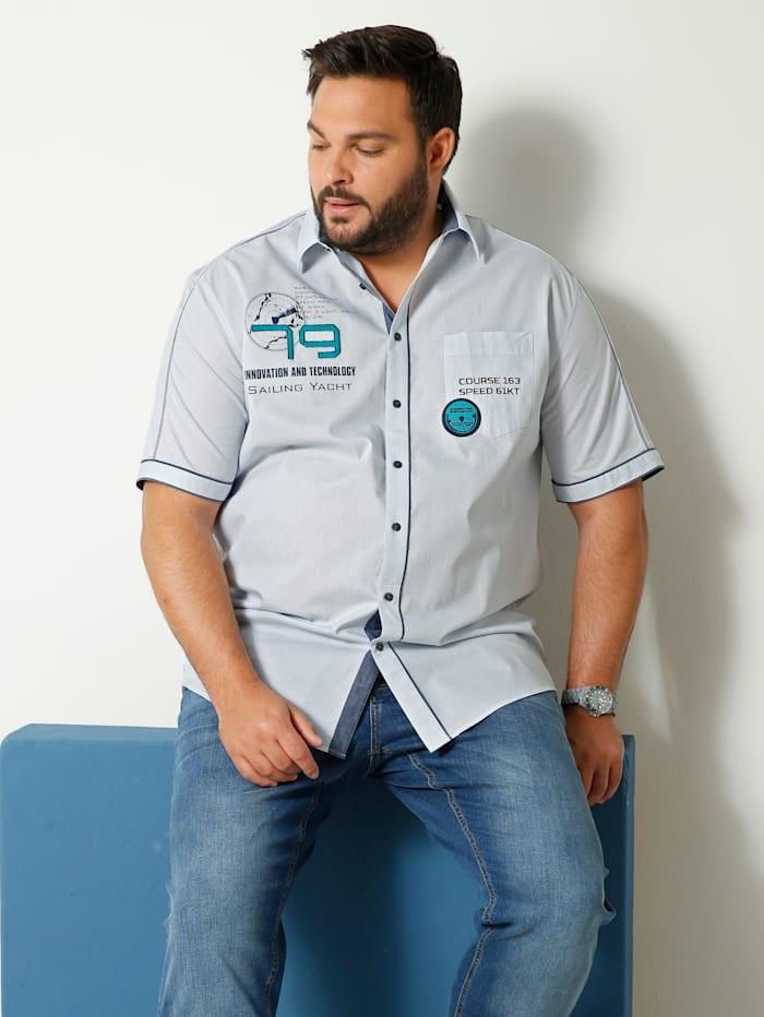 Men Plus Overhemd van zuiver katoen, Lichtblauw