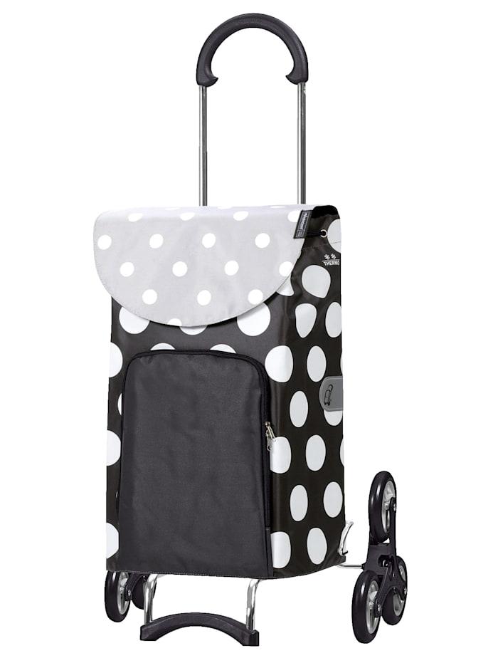 """Andersen Shoppingväska """"dramaten"""" för trappor – Scala Dots, svart/grå/vit"""