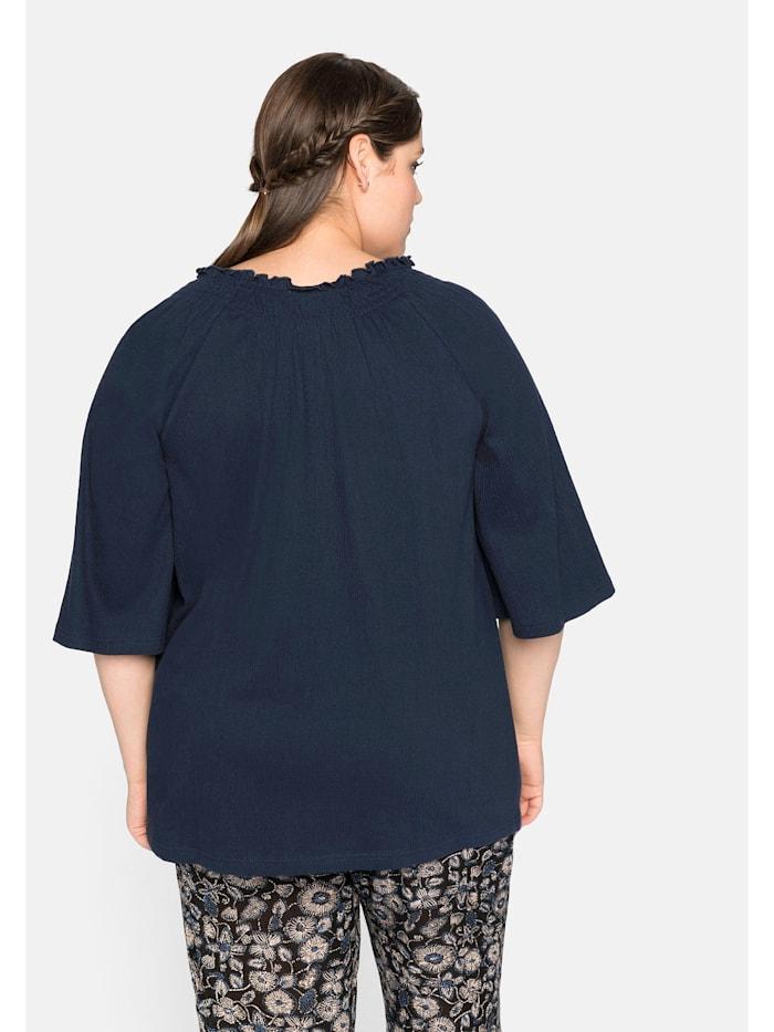 Sheego Shirt mit Smokeffekt