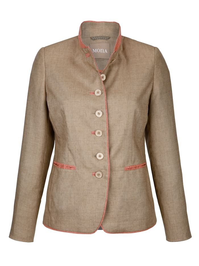 Blazer made from crease-resistant linen