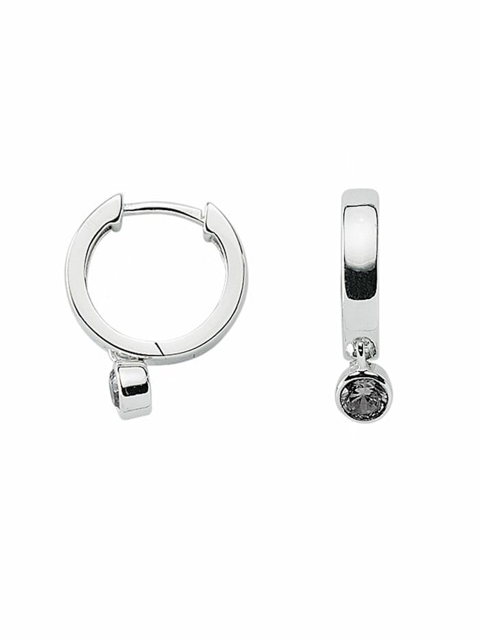 1001 Diamonds Damen Silberschmuck 925 Silber Ohrringe / Creolen mit Zirkonia Ø 14,7 mm, bunt
