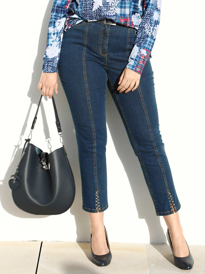 m. collection Jeans in Knöchellänge, Blue stone