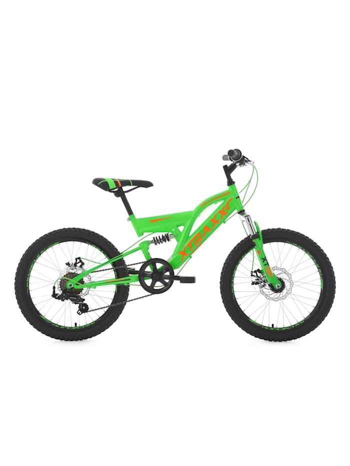 KS Cycling Kinder-Mountainbike 20 Zoll Fully Xtraxx, grün-orange