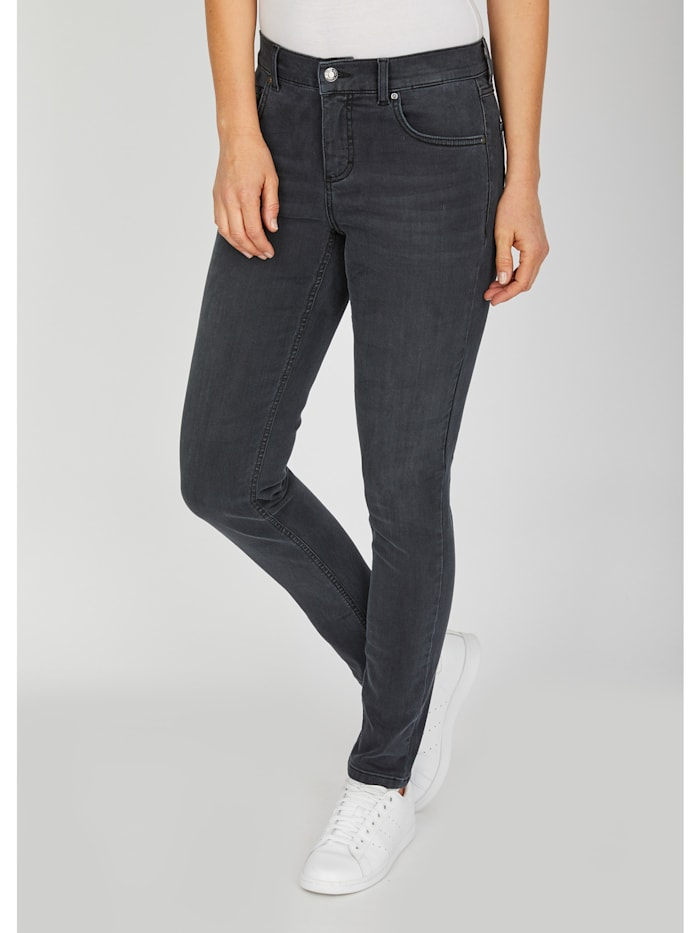 Jeans 'Skinny' in Used-Waschung