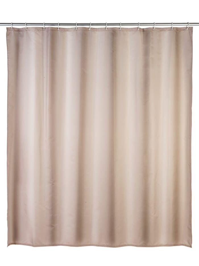 Wenko Anti-Schimmel Duschvorhang Uni Beige, Textil (Polyester), 180 x 200 cm, waschbar, Beige
