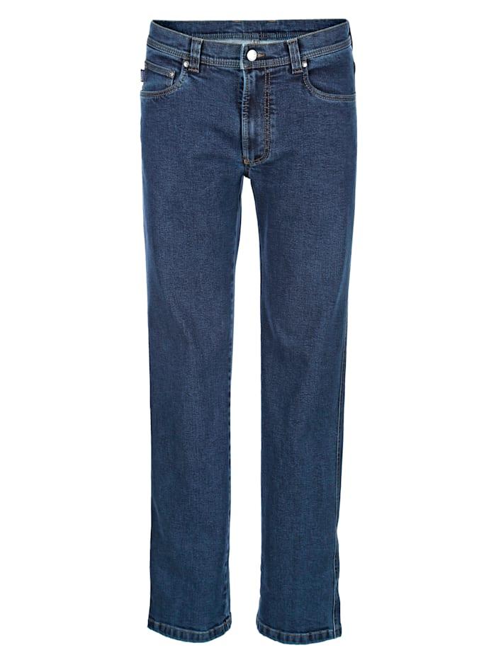 Brühl Jean 5 poches en matière au repassage superflu, Blue stone