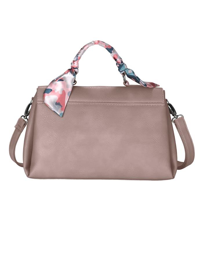Handtasche mit eingearbeitetem Tuch als Design-Element