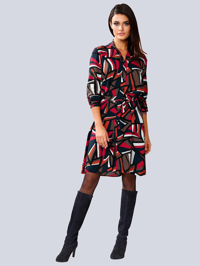 Kleid allover im grafischen Dessin