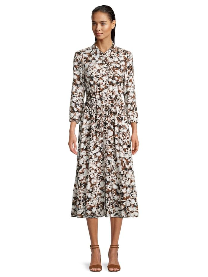 Betty & Co Hemdblusenkleid mit Print, Brown/Cream