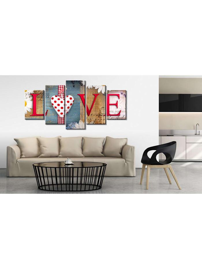 Wandbild LOVE - handmade