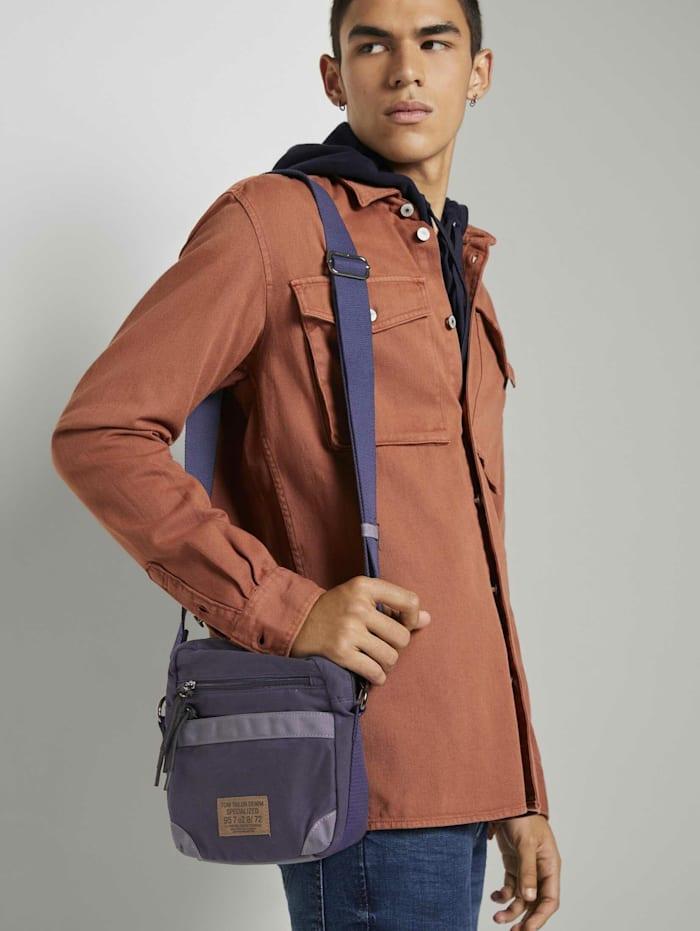 Tom Tailor Denim Bendik Umhängetasche mit Überschlag, dark blue