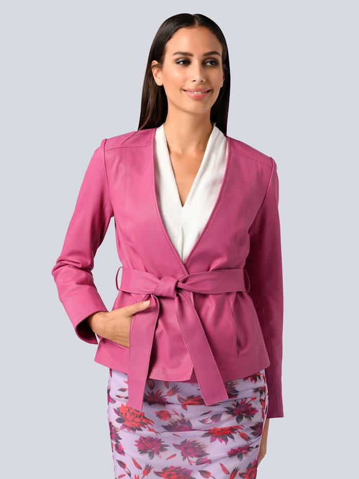 Alba Moda Leren blazer van lamsnappa, Pink
