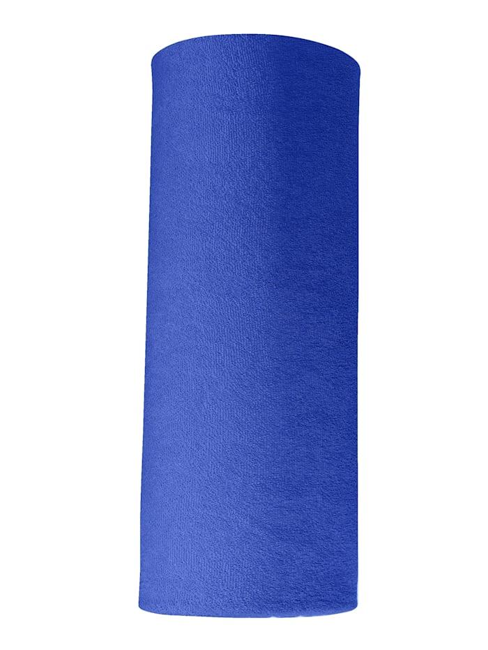 Webschatz Frottee-Stretch Spannbettlaken, Blau