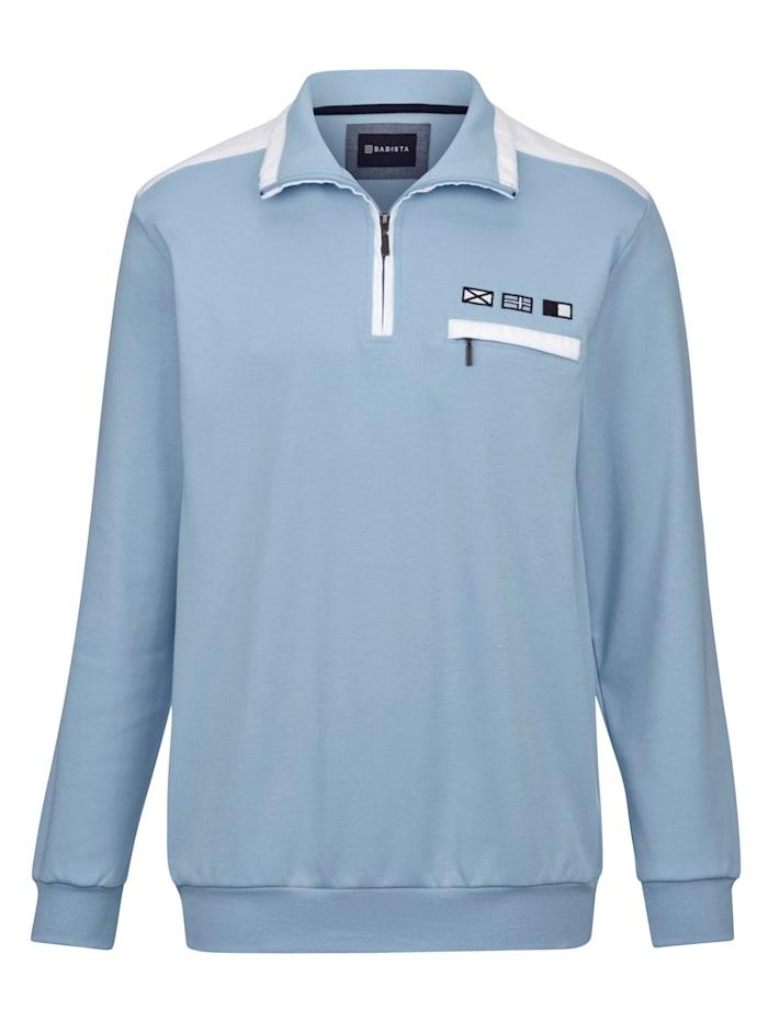 BABISTA Sweat-shirt aux couleurs estivales, Bleu ciel