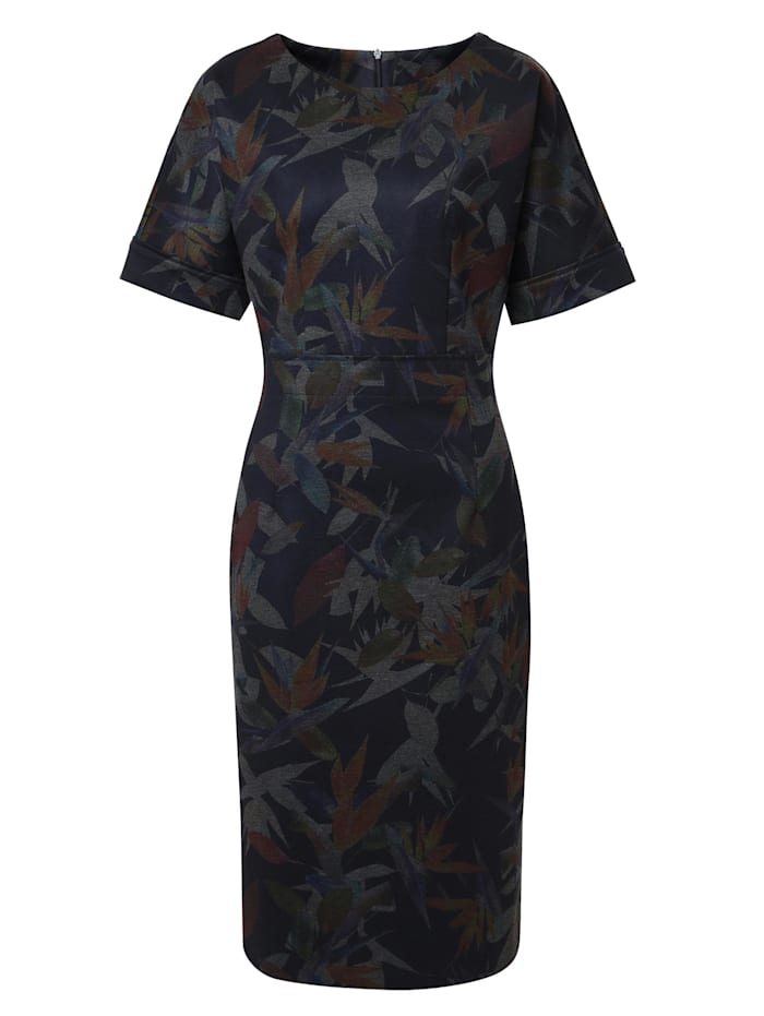 Madam-T Etuikleid Kleid Altea, blau grau