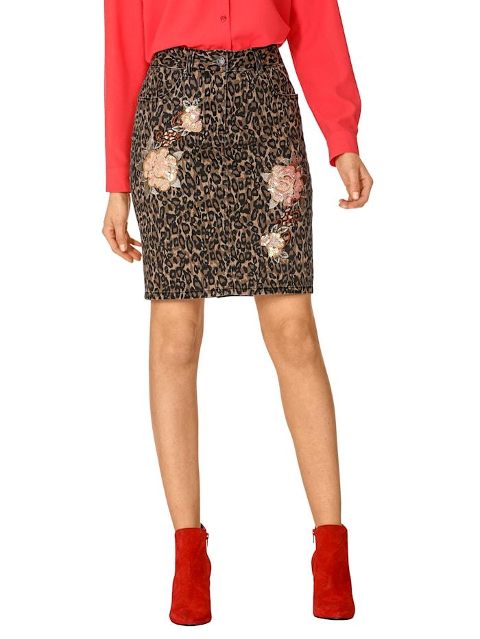 Leopardikuvioitu farkkuhame