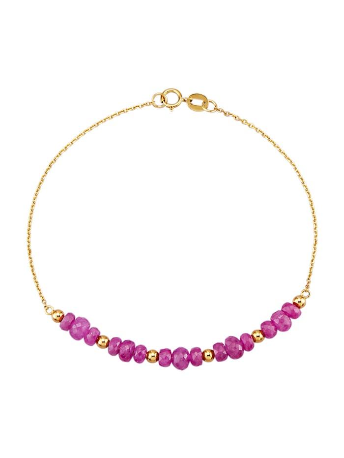 Bracelet en or jaune 375, Rouge