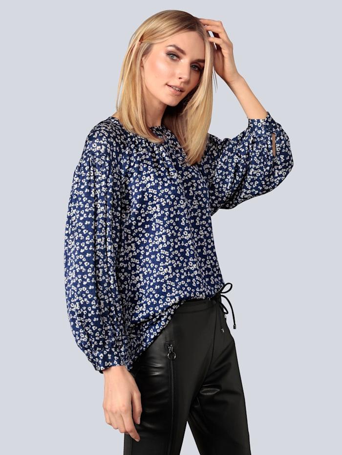 Seidensticker Schwarze Rose Bluse mit 3/4 Arm, Blau