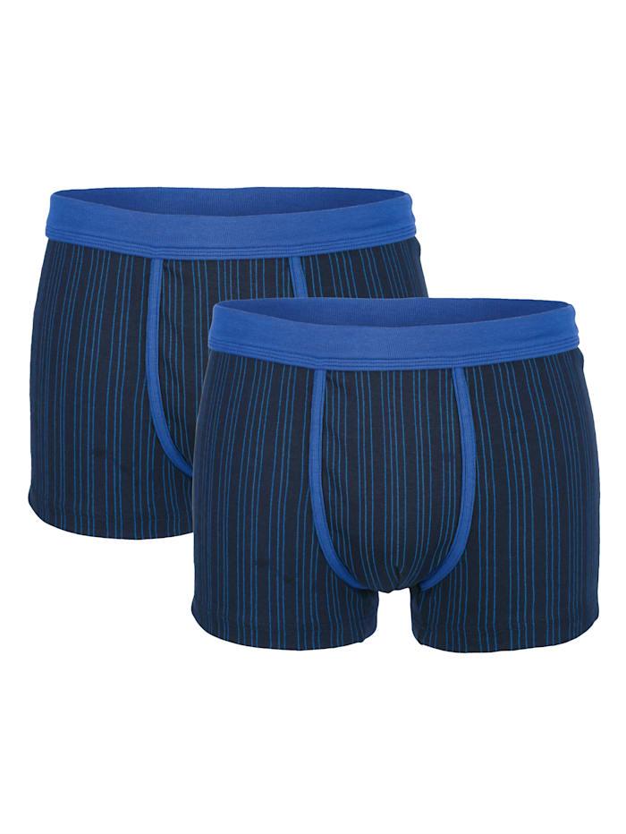 Boxershorts met contrastkleurige, zachte band 2 stuks