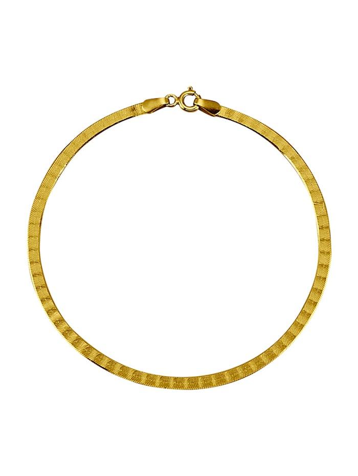 Herringbone-Armband in Massiv Gelbgold 333, Gelbgoldfarben