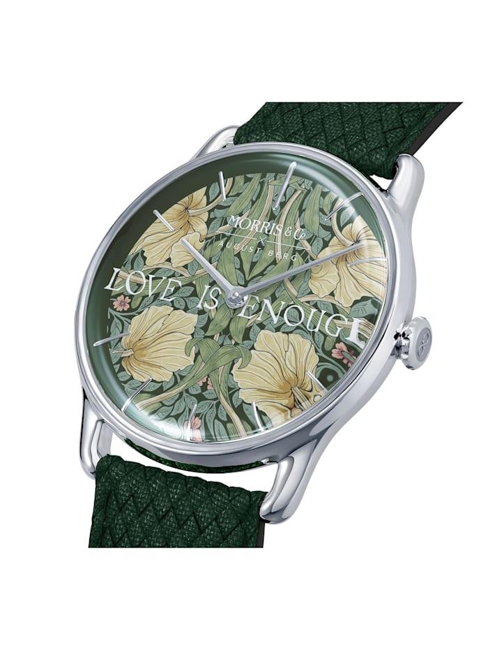Uhr MORRIS & CO Silver Green Perlon 38mm