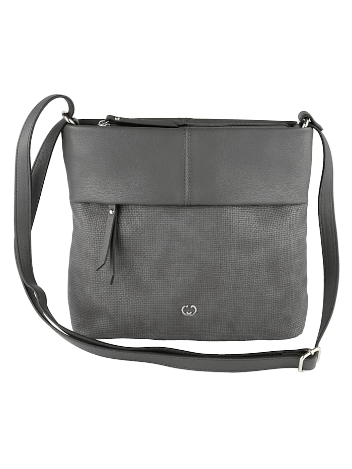 Gerry Weber Shoulder Bag in a versatile design, Dark Grey