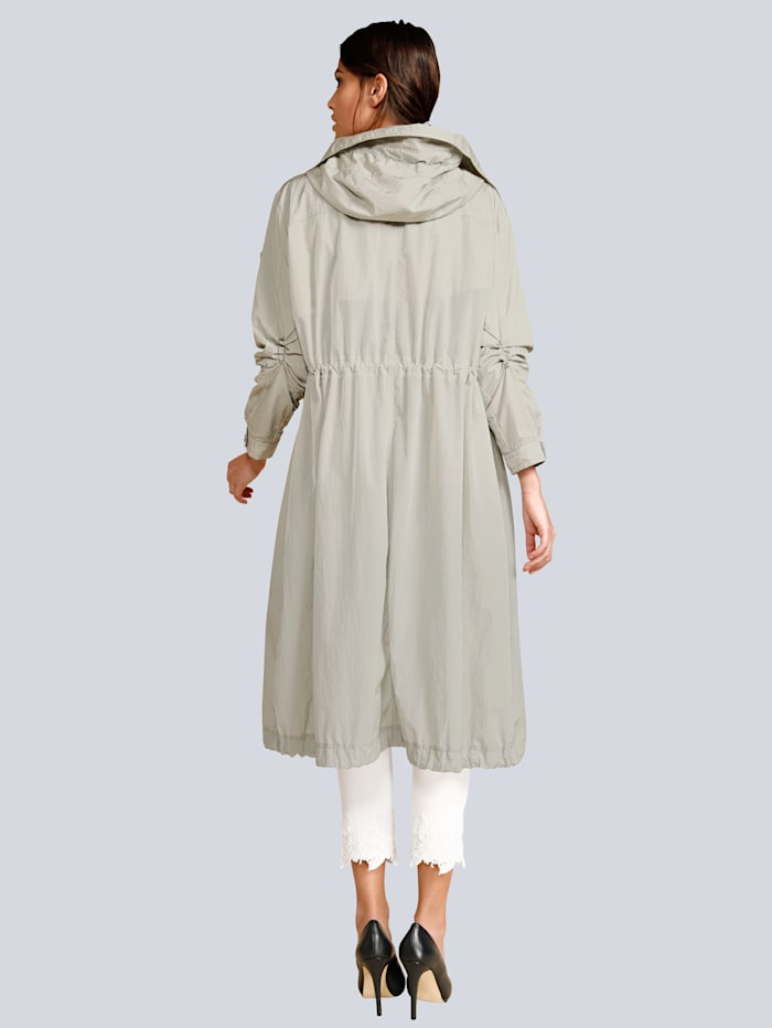 Manteau de coupe longue et décontractée
