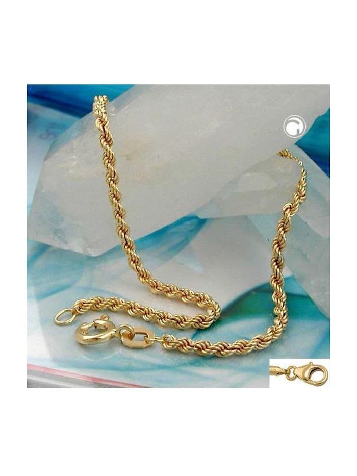 Gallay Schmuckgroßhandel Armband 2mm Kordelkette 9Kt GOLD 19cm, gold
