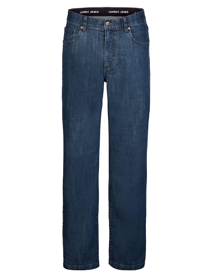 Roger Kent Jeans med dold resår i linningen, Blue stone