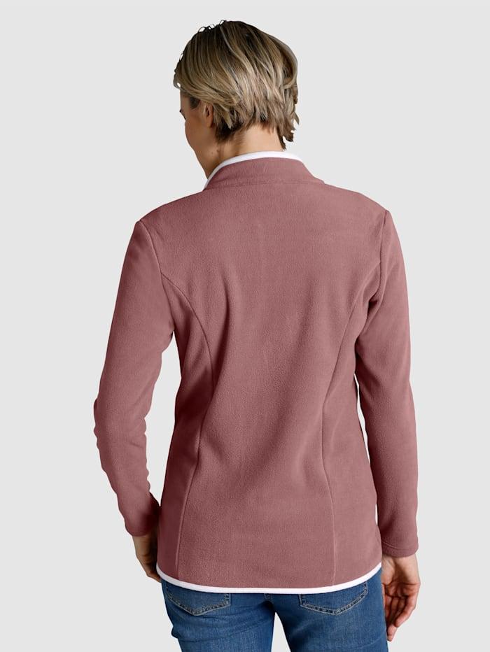 Fleece Jacket Contrasting piping