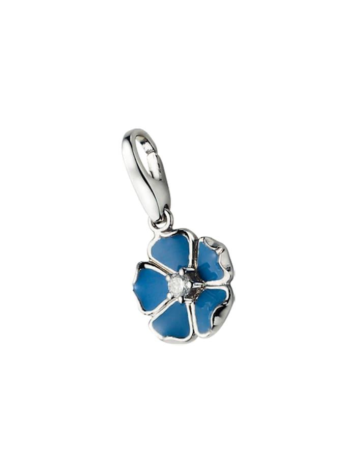 Giorgio Martello Charm Blume, Blau