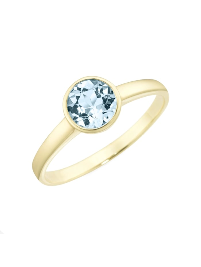 Luigi Merano Ring mit Blautopas, Gold 375, Hellblau