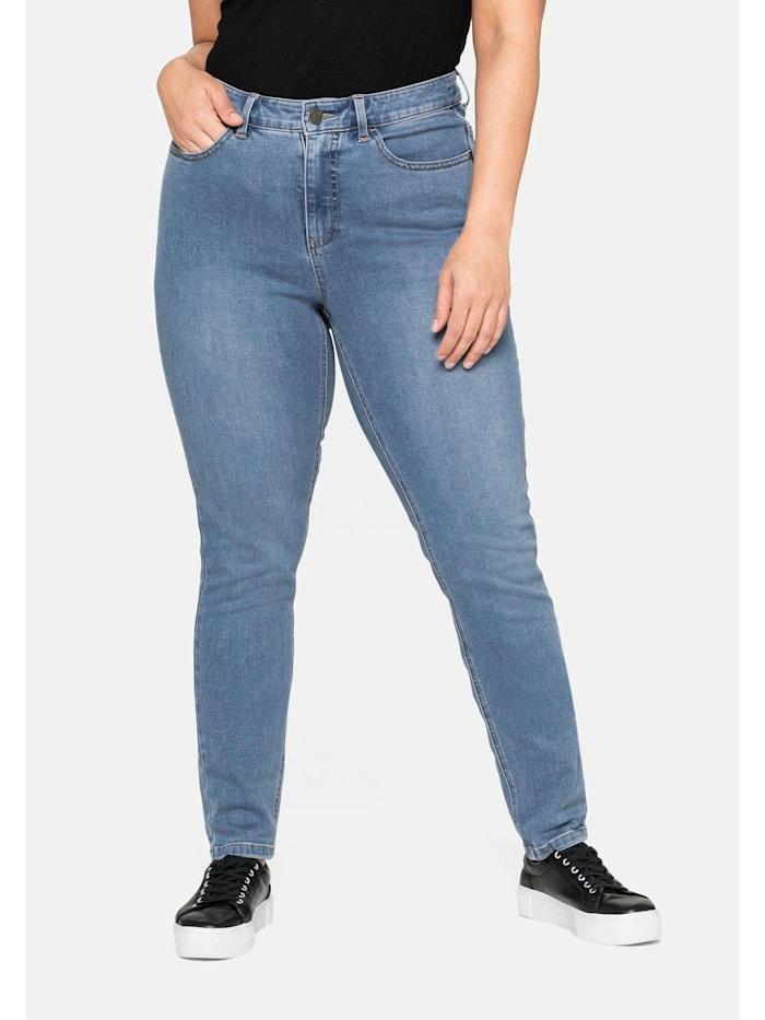 Sheego Jeans Super elastisches Power-Stretch-Material, blue Denim